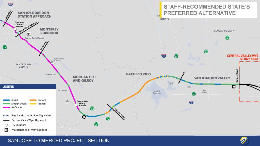 San Jose to Merced Project Section: Staff-Recommended State's Preferred Alternative