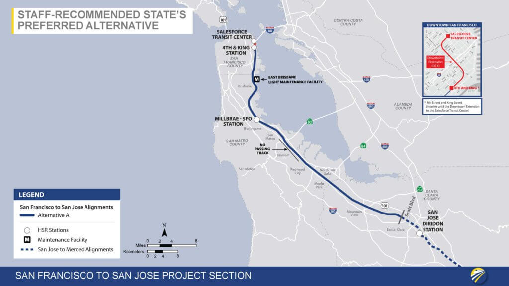 San Francisco to San Jose Project Section: Staff-Recommended State's Preferred Alternative