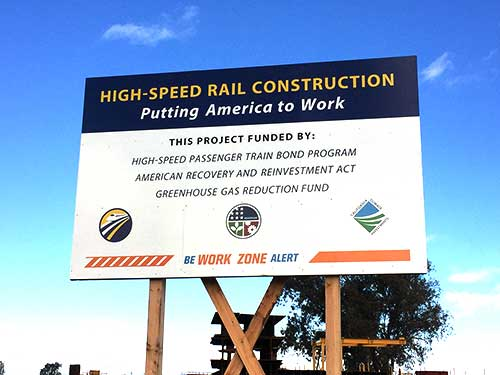 High Speed Rail Construction Poster