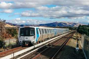 BART train in the Bay Area