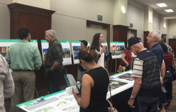 Residents view designs at a community open house in Palmdale