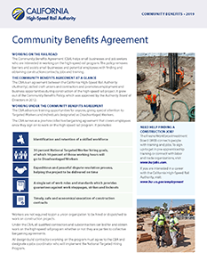 Community Benefits Agreement Cover