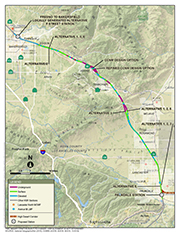 Bakersfield to Palmdale Map