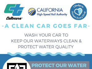 Clean Car Goes Far. Wash Your Car To Keep Out Waterways Clean and Protect Water Quality