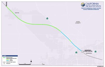 Fresno to Bakersfield - Locally Generated Alternative Project Section Map