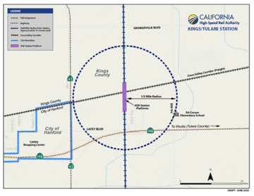 Kings/Tulare Station Map