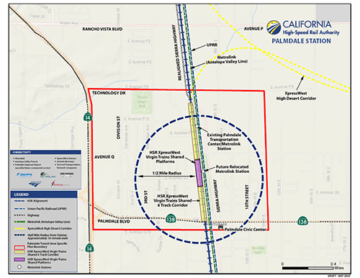 Palmdale Station Map