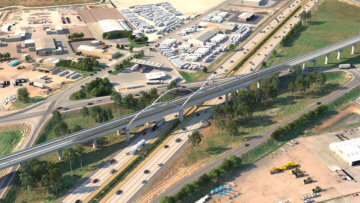 Aerial view of the Cedar Viaduct.