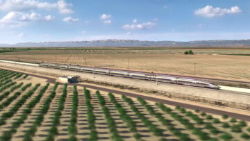 High-speed train in the Central Valley.