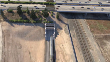 Aerial view of the Fresno Trench