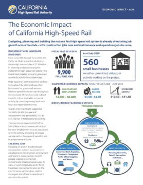Front page of the economic impact factsheet
