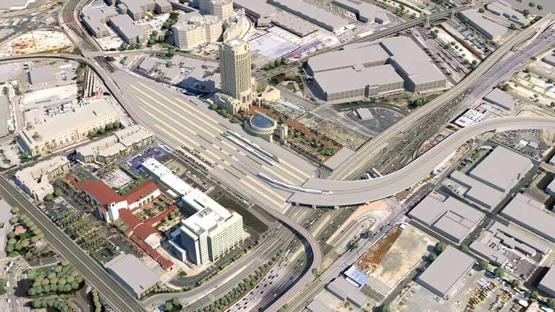 Link Union Station Phased Construction rendering, Los Angeles Union Station