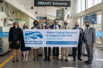 VTA's BART Silicon Valley Berryessa Extension Ribbon Cutting Ceremony, June 2020