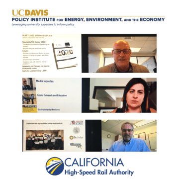 Executives at the Authority provide a project overview through zoom to students and affiliates at UC Davis.