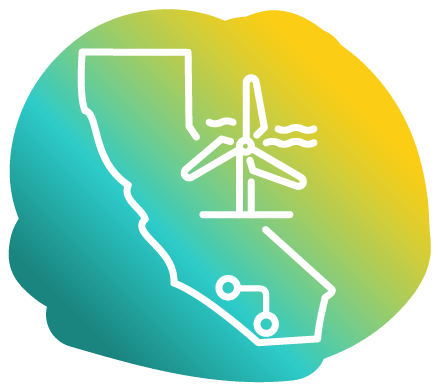 icon of State of California with windmill