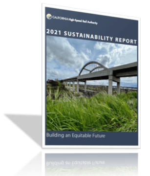 Graphic of the front cover of the 2021 Sustainability Report.